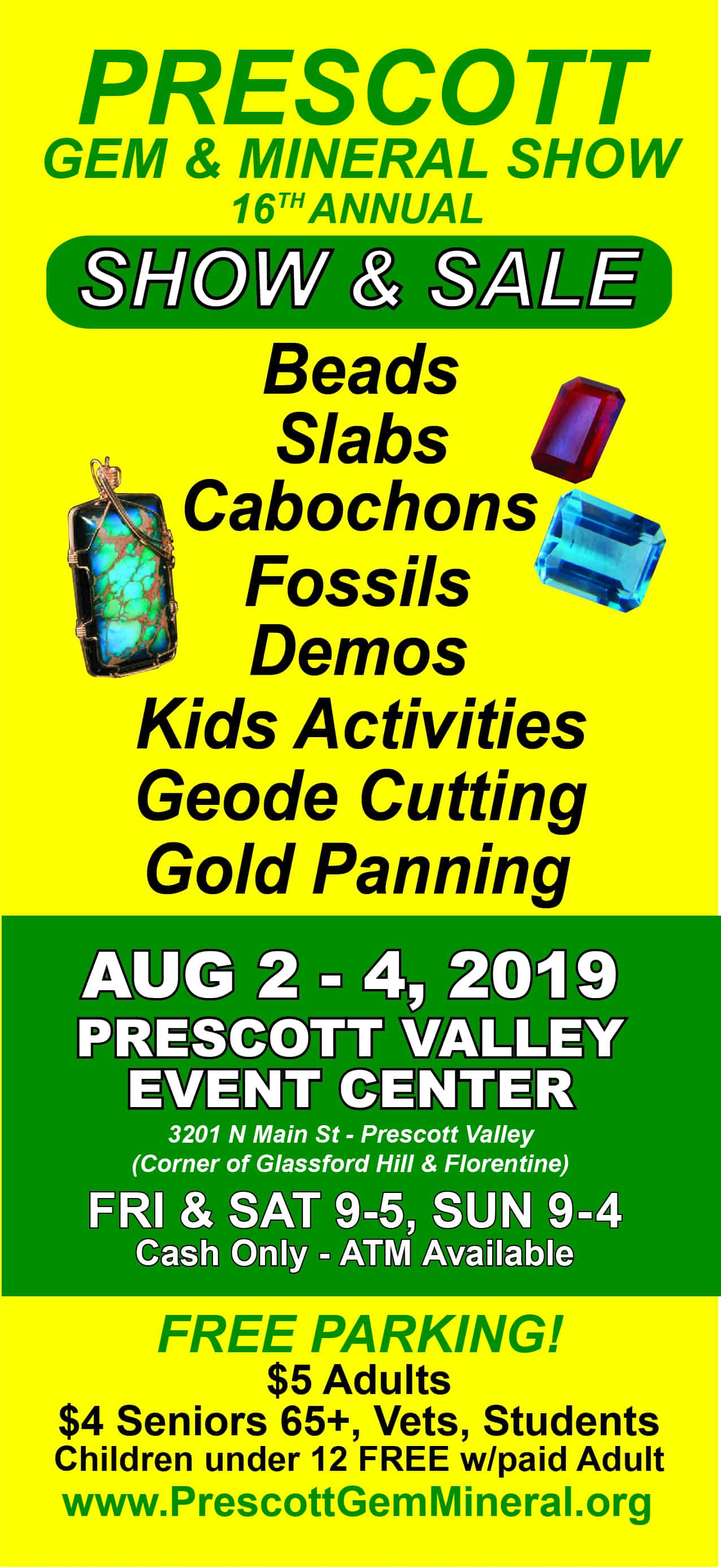 16th Annual Prescott Gem and Mineral Club Show @ Findlay Toyota Center