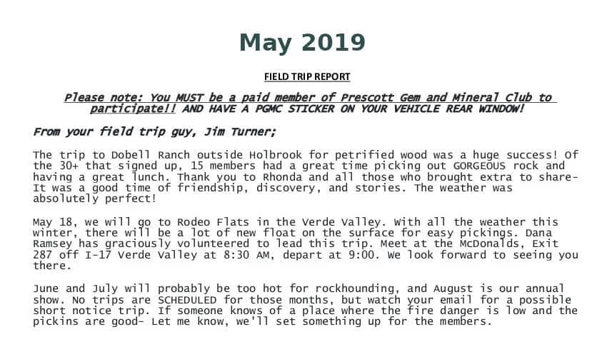 May 2019 Field Trip Thumb