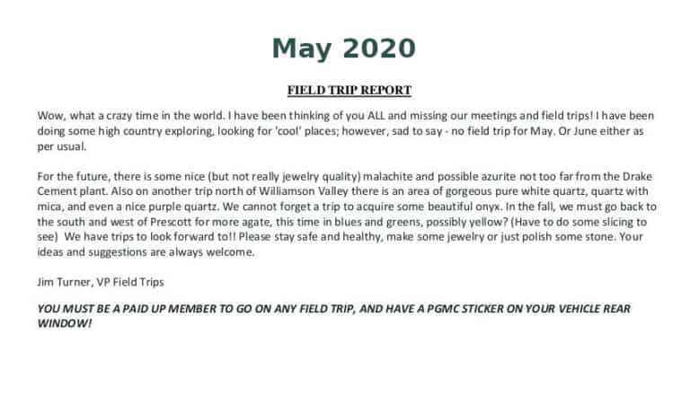 May 2020 Field Trip Thumb