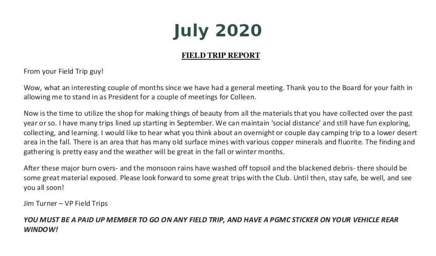 July 2020 Field Trip Thumb