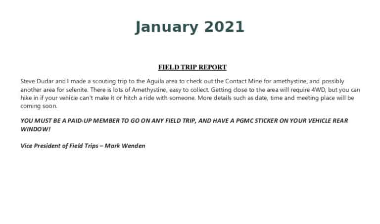 Jan 2021 Field Trip Thumb