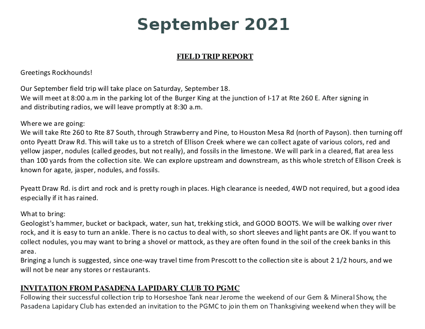 September 2021 Field Trip Report Thumb