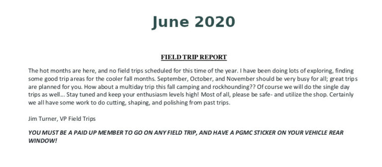 June 2020 Field Trip Thumb