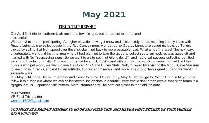 May 2021 Field Trip Thumb